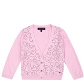 Juicy Couture Girls Glitter Linking Hearts Cardigan
