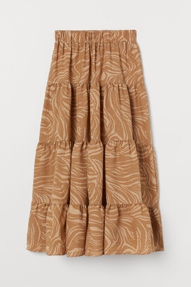 H&M Wide-cut Maxi Skirt