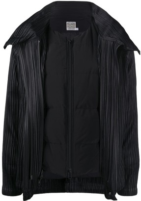 Pleats Please Issey Miyake Quilt Lining Pleated Jacket