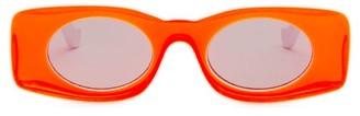 Loewe Paula's Ibiza - Rectangular Acetate Sunglasses - Womens - Orange
