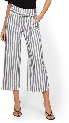 New York & Co. Madie Wide-Leg Capri Pant - 7th Avenue - Stripe