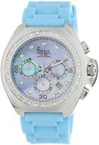 Freelook Women's HA6303-6PX Aquamarina III Blue Silicone Mother-Of-Pearl Dial Watch