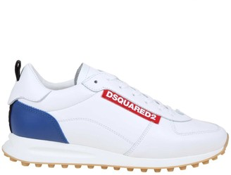 DSQUARED2 New Runner Hiking Sneakers In White Leather