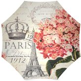Paris Eiffel Tower Umbrella Fashion Hipster Peacock Feather art Folding Portable Outdoor Rain /Sun Umbrella Beach Travel Shade Sunscreen For Women/Men