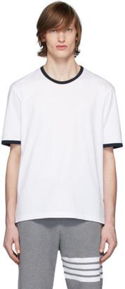 Thom Browne White Ringer T-Shirt