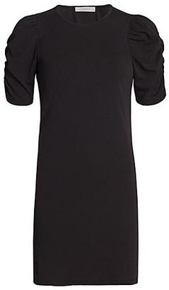 Frame Gathered Puff-Sleeve Dress