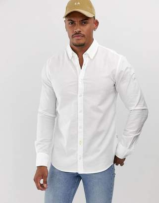 BOSS Epreppy slim fit shirt in white