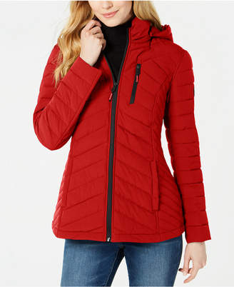 Nautica Hooded Packable Puffer Coat