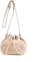 MANGO TOUCH - Leather bucket bag