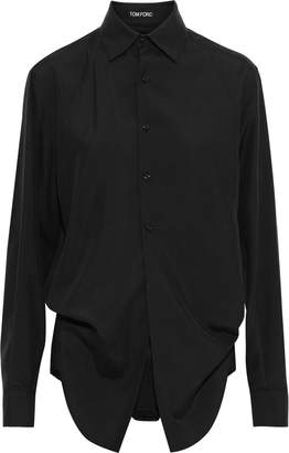 Tom Ford Layered Washed-silk Bodysuit