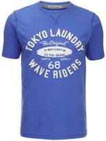 Tokyo Laundry Men's Wave Riders T-Shirt - Cornflower Blue Marl