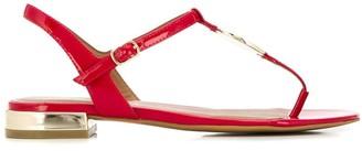 Emporio Armani logo charm sandals