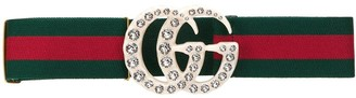 Gucci Web elastic belt with embellished GG