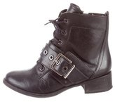 Schutz Buckle Ankle Boots
