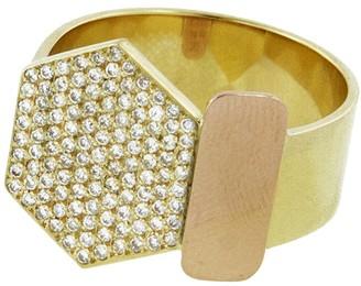 Lito Fine Jewelry Diamond Hexagon Ring - Yellow and Rose Gold