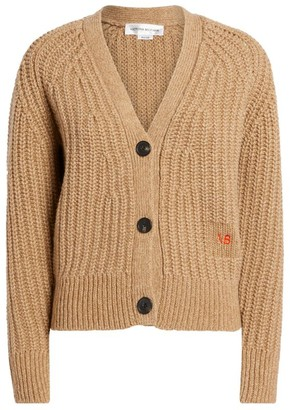 Victoria Beckham Wool-Cashmere Buttoned Cardigan
