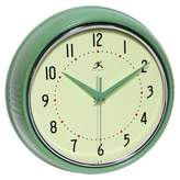 Infinity Instruments Retro Metal Wall Clock in Green