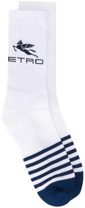 Etro Striped Logo Socks