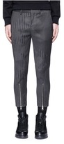 Neil Barrett Camouflage pinstripe zip cuff cropped pants