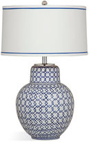 Bassett Mirror Emilia Table Lamp, Blue/White