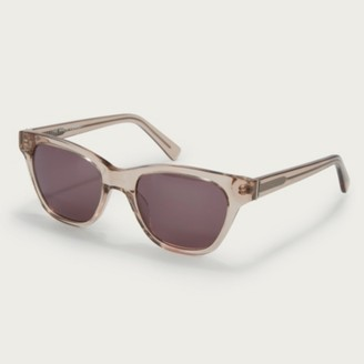 The White Company Slim Rectangle Sunglasses, Nude, One Size