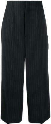 Y's Pinstriped Tailored Trousers