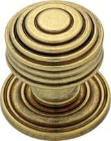 Martha Stewart 1-1/16 Bedford Satin Brass Round Beehive Cabinet Knob - P20637c-476-cp