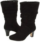 Fitzwell Ceylon/Extra Wide Calf Boot (Black Suede) - Footwear