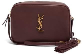 Saint Laurent Lou Medium Leather Cross-body Bag - Womens - Burgundy