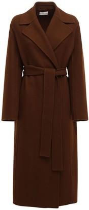 The Row Wool Blend Long Coat W/ Belt