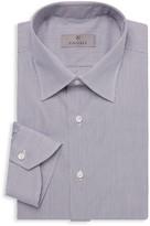 Canali Grid-Print Cotton Dress Shirt
