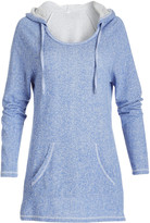 Pima Apparel Women's Sweatshirts and Hoodies BLUE - Blue French Terry Hooded Tunic - Women