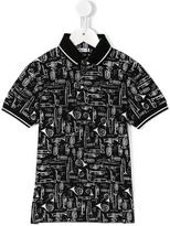 Dolce & Gabbana trumpet print polo shirt - kids - Cotton - 10 yrs