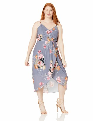 City Chic Women's Apparel Women's Plus Size Lined Floral Dress with Adjustable Shoulder Straps