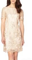 Tahari Petite Women's Sequin Lace Shift Dress