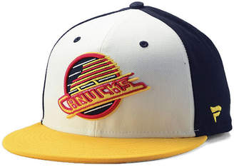 Authentic Nhl Headwear Vancouver Canucks Tri-Color Throwback Snapback Cap