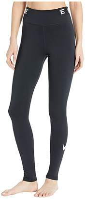 Nike One Tights Icon Clash (Black/Black/White) Women's Casual Pants