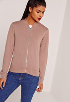 Missguided Basic Bomber Jacket Pink