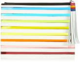 Mary Katrantzou Rainbow striped clutch