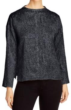Eileen Fisher Organic Printed Drop-Shoulder Top