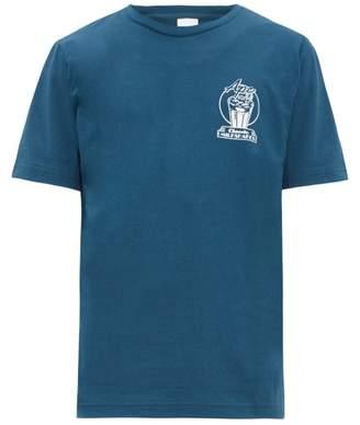 A.P.C. Blake Milkshake-print Cotton T-shirt - Mens - Blue