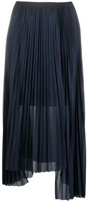 Helmut Lang Asymmetric Pleated Skirt