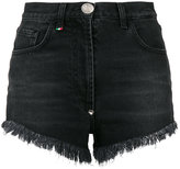 Philipp Plein sequin heart denim shorts