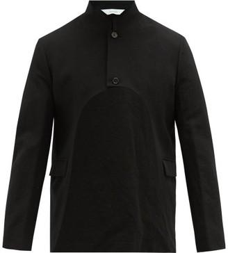 SASQUATCHfabrix. Cutaway Crinkled Wool-blend Bolero Jacket - Mens - Black