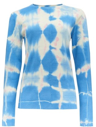 Loewe Paula's Ibiza - Long-sleeved Tie-dye Silk Top - Multi
