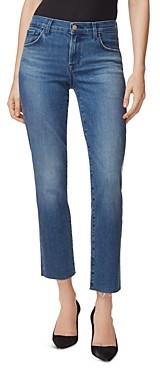 J Brand Adele Ankle Straight-Leg Jeans in Sorority Raze