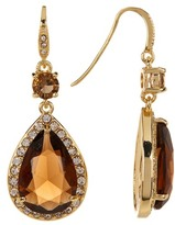 Carolee Teardrop Halo Earrings