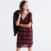 Madewell Zip-Front Dress in Tartan Plaid