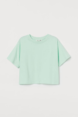 H&M Straight-cut T-shirt - Green