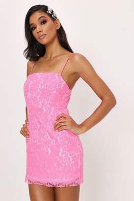 I SAW IT FIRST Fuchsia Lace Cami Mini Dress